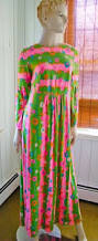 vintage lilly pulitzer bright maxi dress extensive lace trim