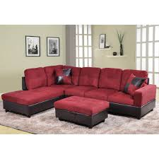 furniture red sectional sofas cheap plus ottoman and rug for