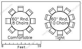 how many can sit at a 60 round table the standard size seating table is a 60 round table which