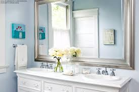 how to design a beautiful blue bathroom better homes and gardens