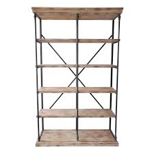 Metal And Wood Furniture La Salle Metal And Wood 5 Tier Bookshelf At Home At Home