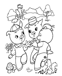 bluebonkers 3 pigs coloring sheets wolf