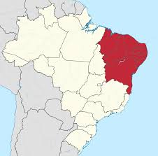 Blank Map Of Brazil by Northeast Region Brazil Wikipedia