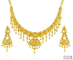 beautiful gold necklace set images Beautiful 22k gold necklace set ajns58446 22k gold necklace jpg