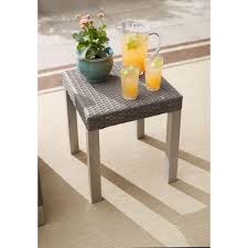 hampton bay oak cliff metal outdoor side table 176 411 20et the