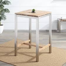 macon square teak outdoor bar table whitewash outdoor