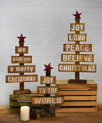 christmas expressions wood tree décor set zulily christmas
