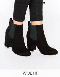 womens wide ankle boots canada black shoes asos robyn wide fit mid heel chelsea boots