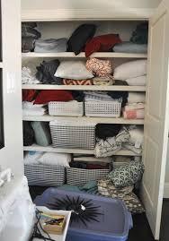 organized linen closet honey we u0027re home
