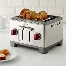 Cream 4 Slice Toaster Wolf Gourmet 4 Slice Toaster Williams Sonoma