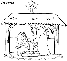 sunday christmas bible coloring pages