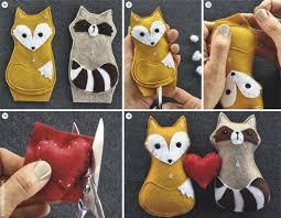 nähen diy anleitungen felting animal and craft