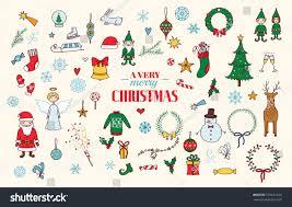 christmas vector set chrismas tree bell stock vector 531631720