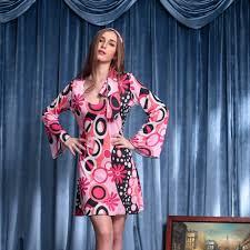 70 Halloween Costumes 70 U0027s Vintage Dress Hippie Style Flare Sleeve Pink Floral Dress