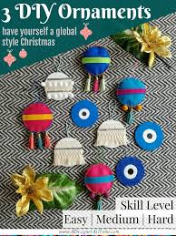 diy handira evil eye and felt tassel ornaments a designer at home