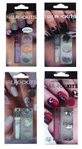 nail rock kits 6 piece manicure bar choice of 4 colour u0026 design