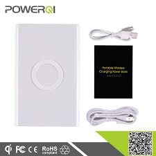 power bank qi wireless charger mat with 7000mah battery for