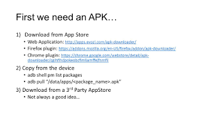 Apk Downloader Reverse Engineering Obfuscated Android Applications Ppt Video