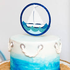 boat cake topper coastal boat cake topper pretty chic party