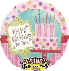 singing birthday balloons balloon in a box birthday balloon for you