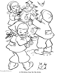decorate christmas tree coloring pages 006