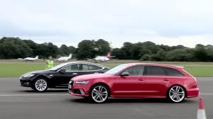 audi rs6 vs drag race tesla model s vs audi rs6 karage tv