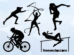 free silhouette images olympic sports silhouettes vector art u0026 graphics freevector com