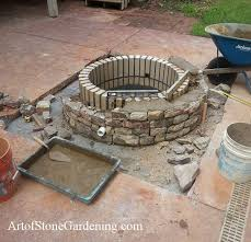 Pictures Of Patios With Fire Pits Fire Pit Built In Into A Concrete Patio Remodeling Project Art