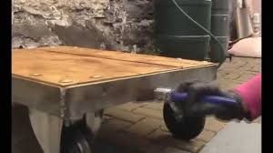 how to make a industrial coffee table easy welding project youtube