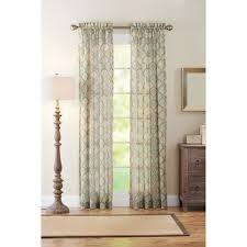 Walmart Sheer Curtain Panels Better Homes And Gardens Lace Fan Semi Sheer Curtain Panel