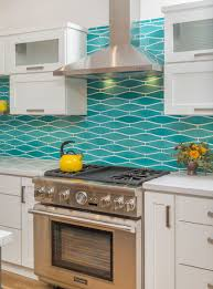 remodeled kitchen w wavy turquoise backsplash u0026 white cabinets