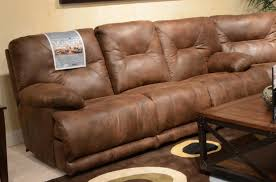 Triple Recliner Sofa by Catnapper Voyager Sectional With Lay Flat 3 Recliner Sofa Console