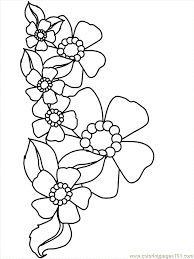 Hard Flower Coloring Pages - printable flowers coloring pages coloring home