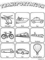transportation theme unit printables