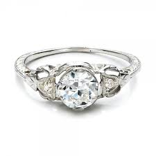 deco engagement ring estate diamond deco engagement ring 100905