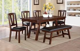 dining room with bench danica collection 6 pc dining set with bench orange county ca