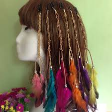 hair ribbons 8 pcs lot fashion girl bohemian festival hair ribbons headband