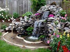 Backyard Waterfall Mini Waterfall With Rockery Ponds Pinterest Water Features