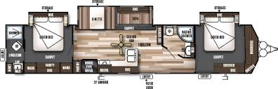 Sprinter 5th Wheel Floor Plans Imposing Exquisite Two Bedroom Fifth Wheel 5th Wheel Rv 2