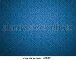 luxury royal blue floral damask seamless wallpaper stock photo