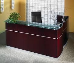 L Shaped Desk With Locking Drawers by Mayline Nrslbf Napoli L Shaped Reception Desk With 2 And 3