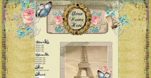 Shabby Chic Website Templates by Website Template Lou Lou Rioux Pinterest