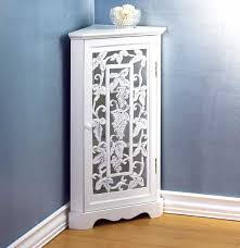 Bathroom Floor Storage Cabinets White Various Bathroom Corner Cabinet At White For Home Design Ideas