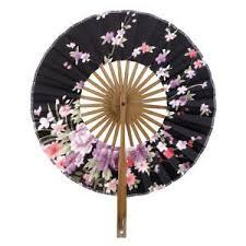 japanese folding fan generic flower pattern fan bamboo japanese folding fan pocket
