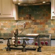 slate tile kitchen backsplash subway tile sized slate for backsplash this would look even