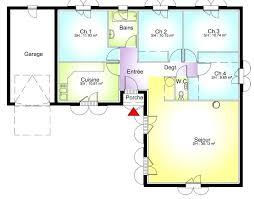 plan maison 3 chambre plan maison une chambre plan maison plain pied 4 chambres plan