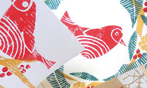 how to make a hand printed christmas card how to artists