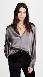 blouse band vince collar band silk blouse shopbop
