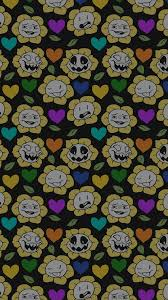 free halloween tiled background undertale flowey wallpaper wallpapersafari