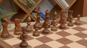 Staunton Chess Pieces by Combo Of Staunton Chess Pieces U0026 Walnut Maple Chessboard 4 0